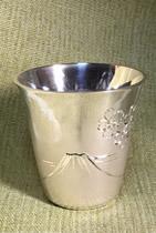 ヘラ絞りと彫金師さんで作った銀で盃