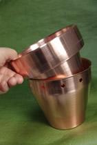 フラワーポット 銅へラ絞り