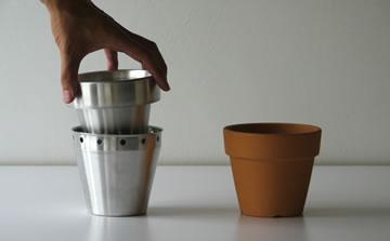 植木鉢サイズのヘラ絞りカップ