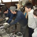 大阪経済大学ヘラ絞り体験
